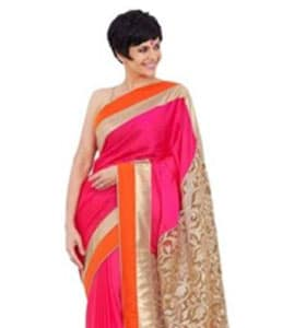 Georgette Sari: Orange & Gold
