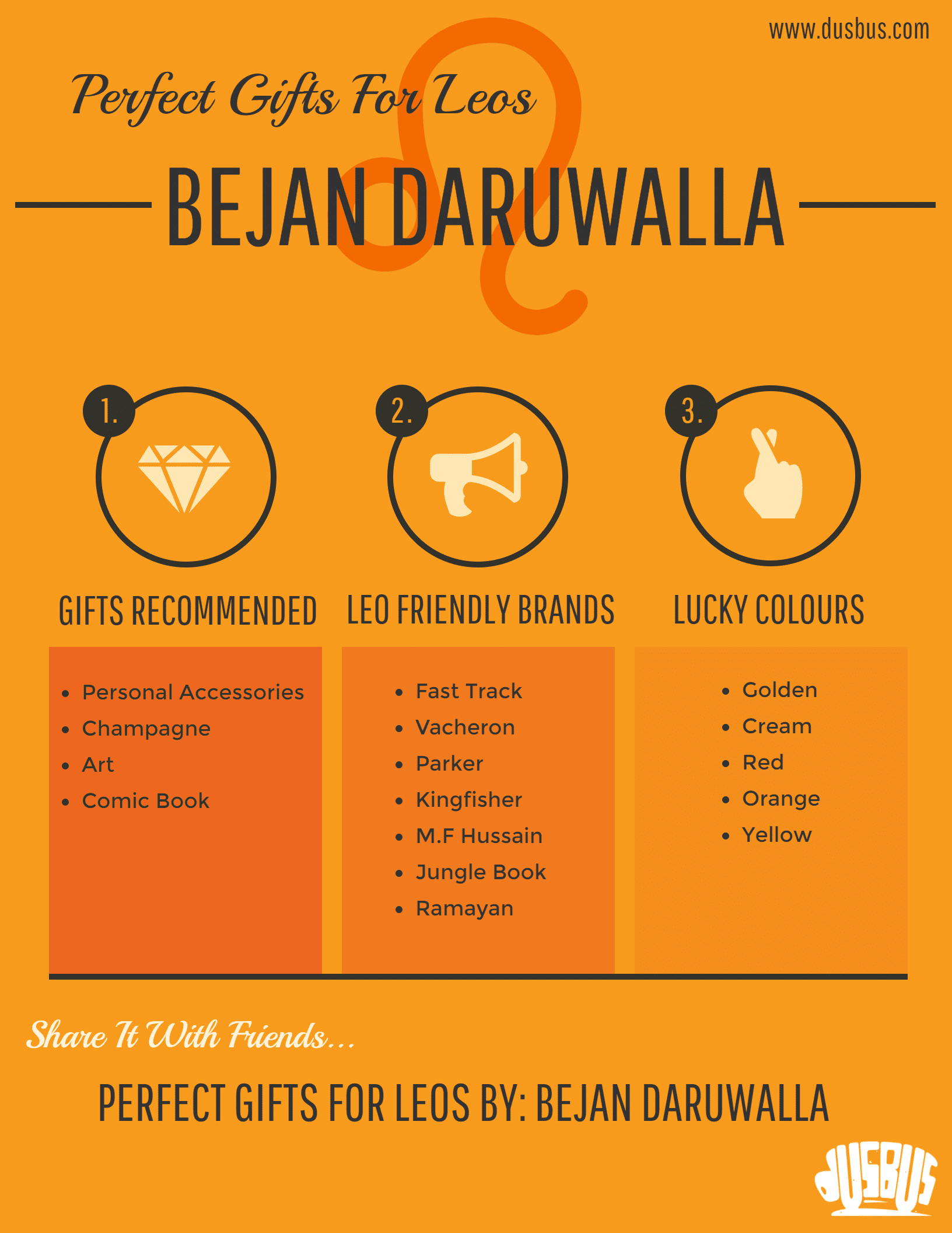 Infographic: Gift Ideas for Leos