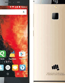 micromax canvas 6 front and back view