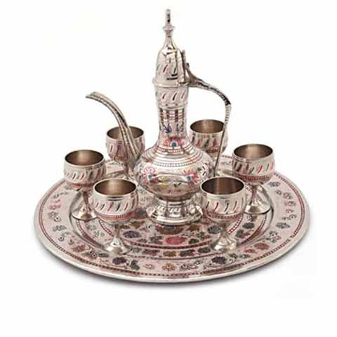 Royal Wine Set in Brass
