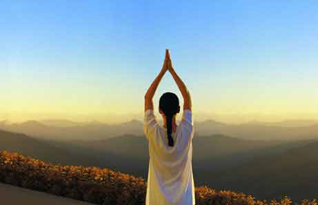 yoga in the hills