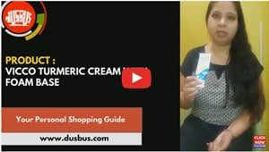 Vicco turmeric cream with foam base featured