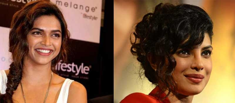 Deepika Padukone and Priyanka Chopra show you how you can pull off the messy side part look with elan