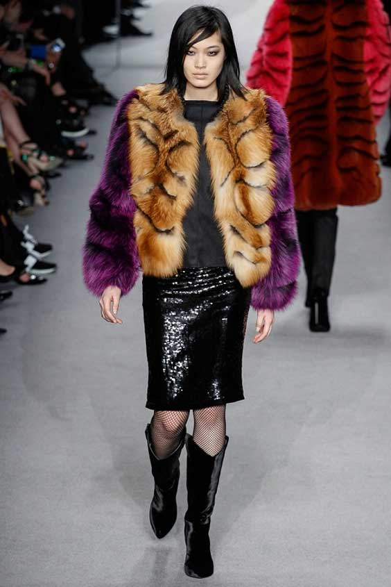 coloured fur coats