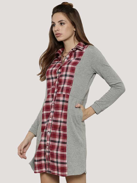 Check Shirt Dress