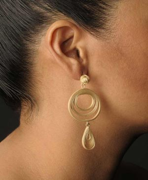 Handmade, exclusive shaped earrings