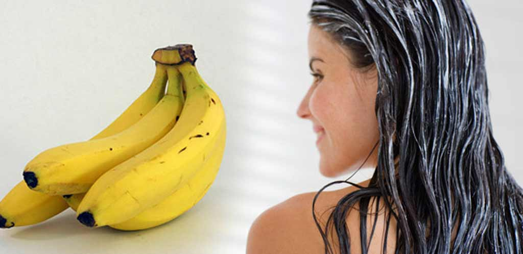 mash banana for hairs