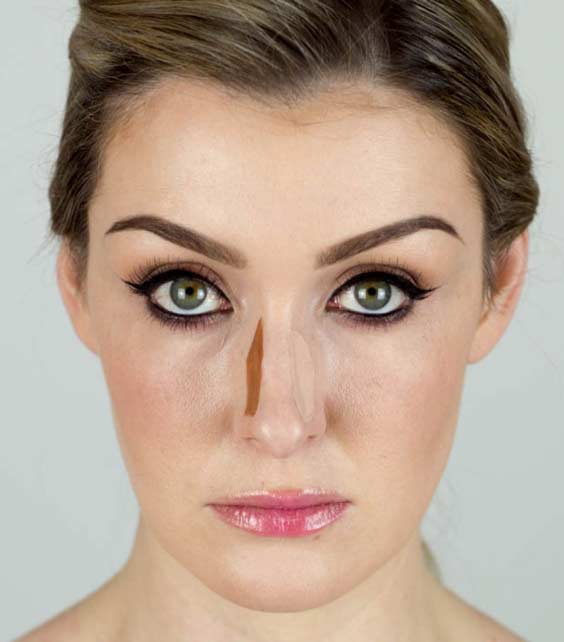 wide nose slimmer with foundation