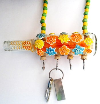 Kavi colourful flower key hanger