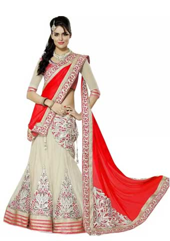 Apka Apna Fashion Embroidered Lehenga, Choli and Dupatta Set