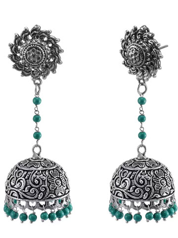 Ethnich Collection Crystal Alloy Jhumki Earring
