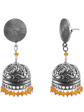 Fashion Collections Crystal Alloy Jhumki Earring