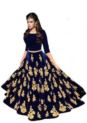 Omstar Fashion Embroidered Semi Stitched Lehenga Choli