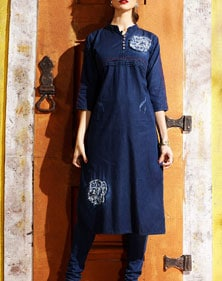 denim kurta design