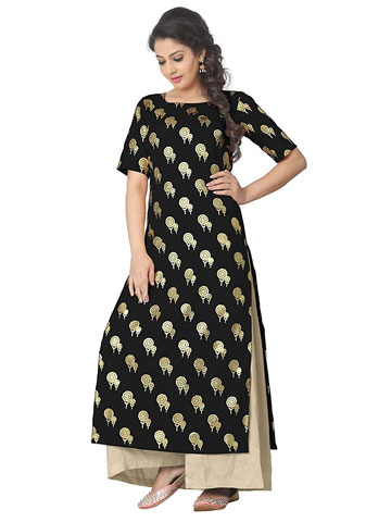 Black & Gold Kurta