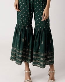 beautiful green palazzo pants