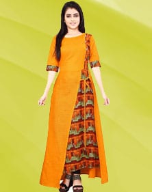 Ankle length Design Kurti