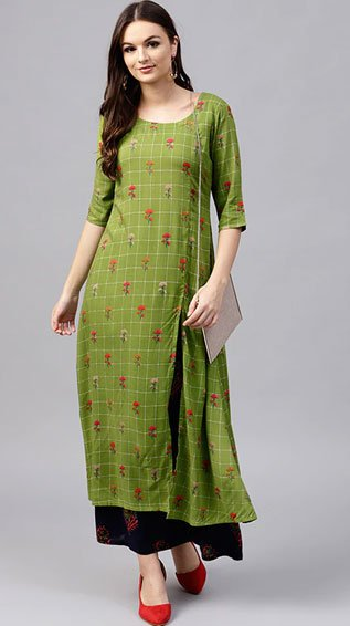 Floral Printed Kurta With Palazzo Set