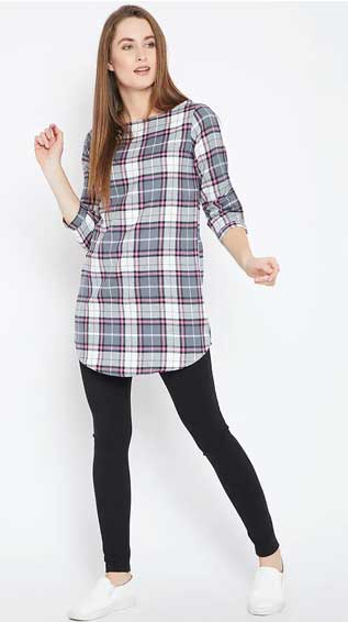 Checkered Straight Kurti