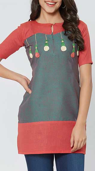 Embroidered Straight Kurti