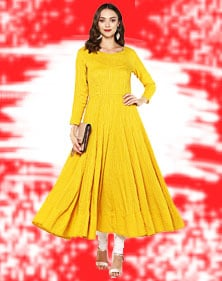 Cotton Long Anarkali Kurti