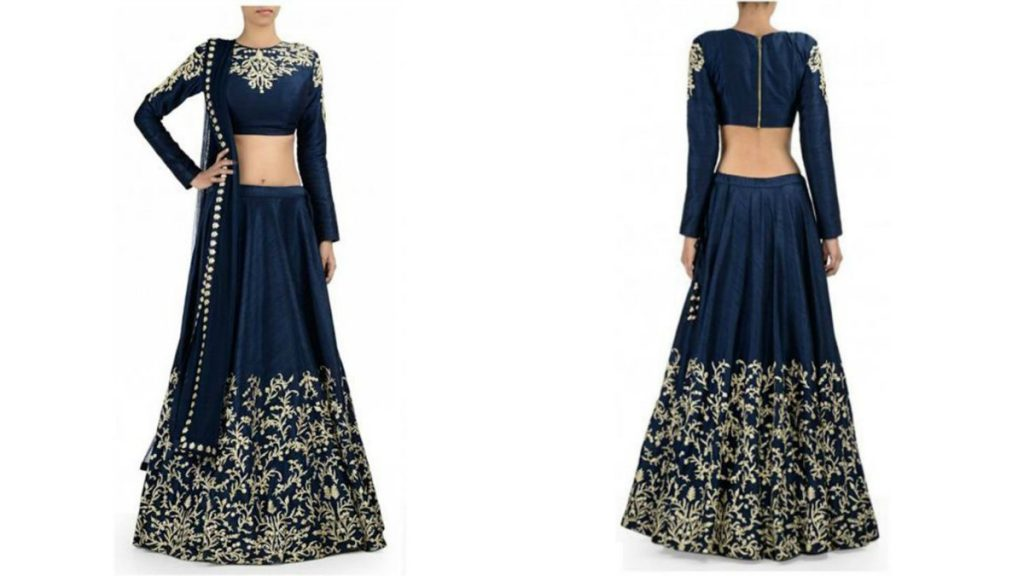Blue Lehenga Choli With Full Blouse