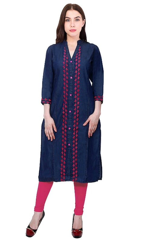 Embroidered Neck Kurti