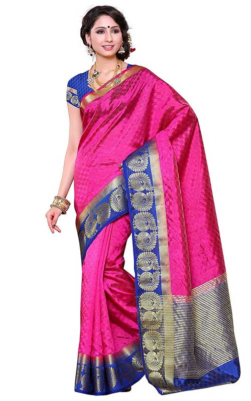 Tussar Silk Self Embossed Woven Saree