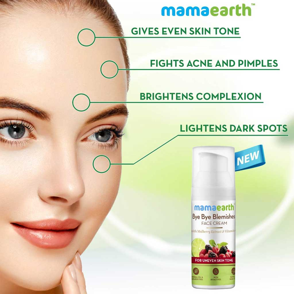 MamaEarth Bye Bye Blemishes Cream for Pigmentation