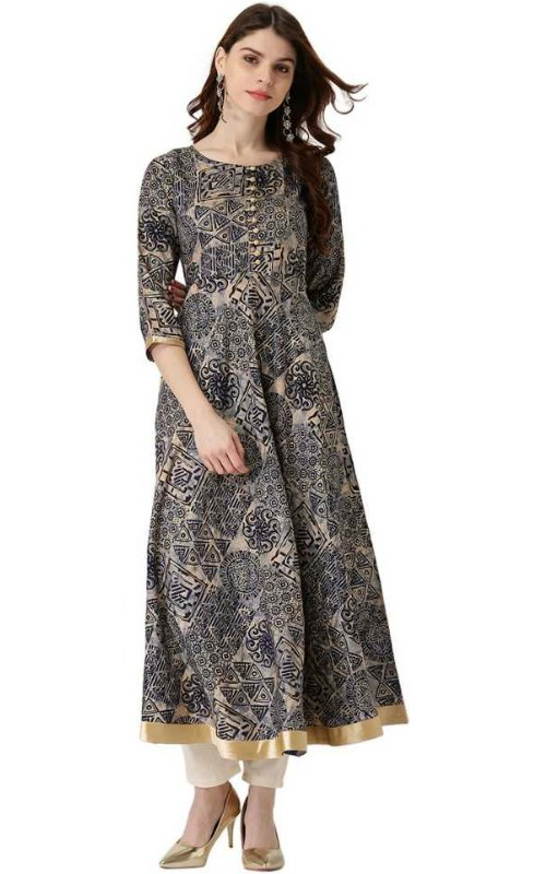 Abstract Anarkali Kurta
