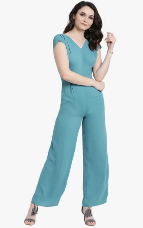 Cap Sleeves Jumpsuit