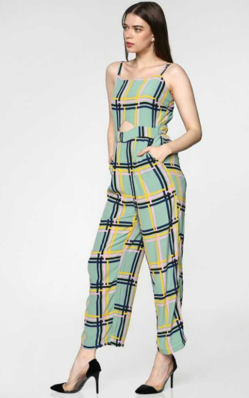 Checkered Women Jumpsuit
