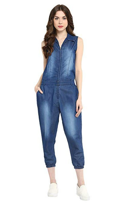 Denim Monkey Wash Jumpsuit