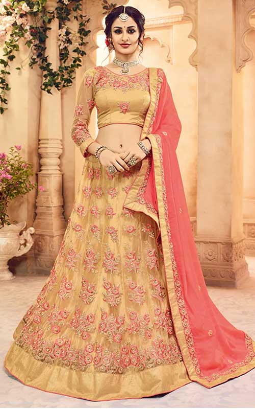Embroidered Flared Lehenga Choli