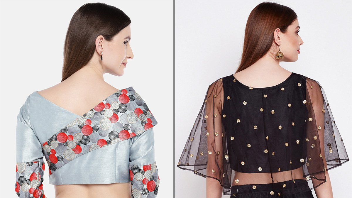 Blouses with Beautiful Back Designs