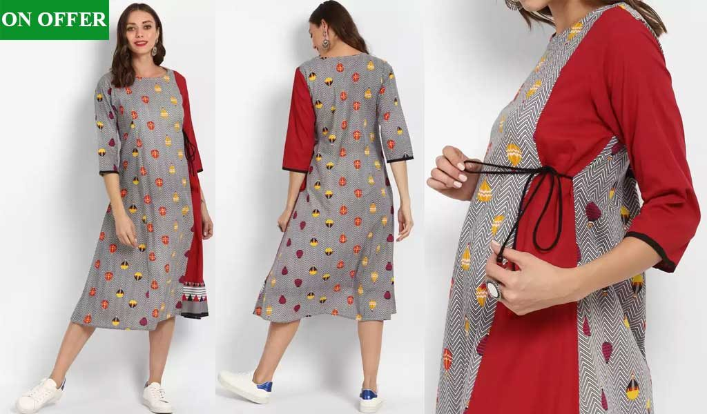 Geometric Print Women A-line Kurta  (Multicolor)