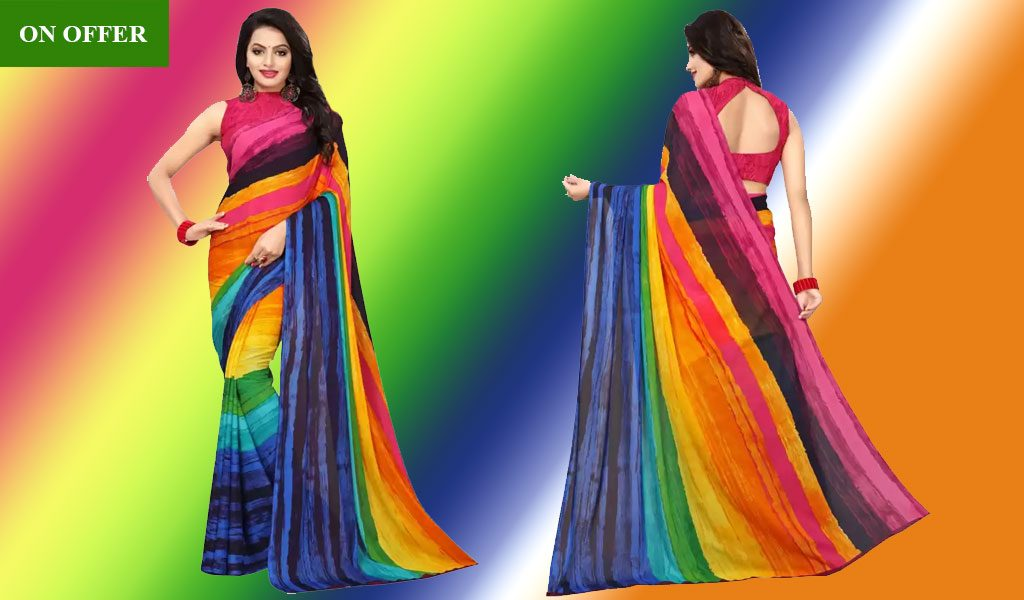Printed Bollywood Pure Chiffon Saree