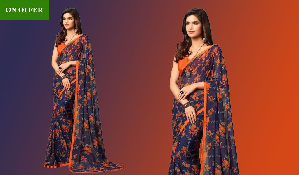 Printed Daily Wear Chiffon Saree