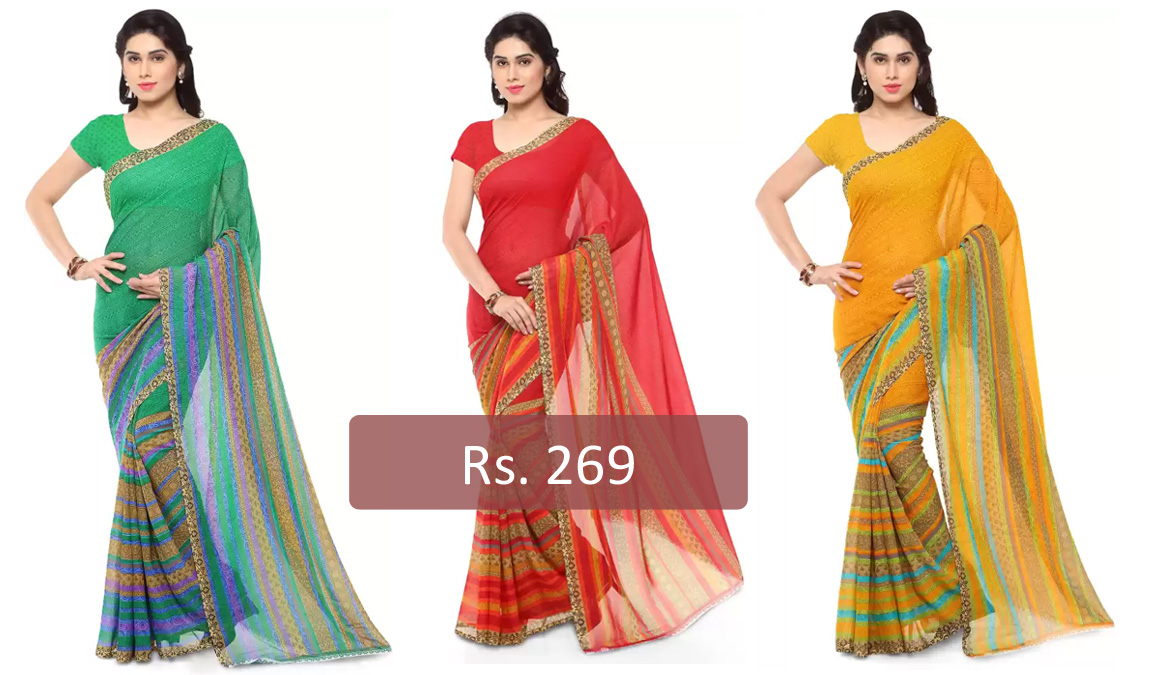 Daily Wear Saree for just Rs.269