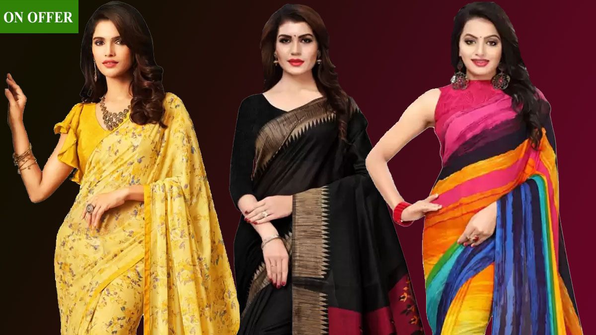 3 Beautiful Sarees on Sale