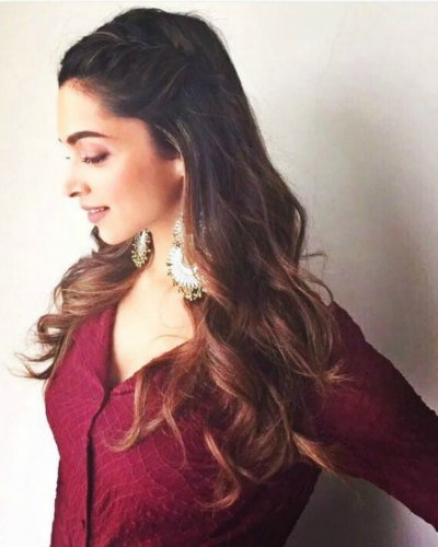 Side Accent Braid With Curls deepika
