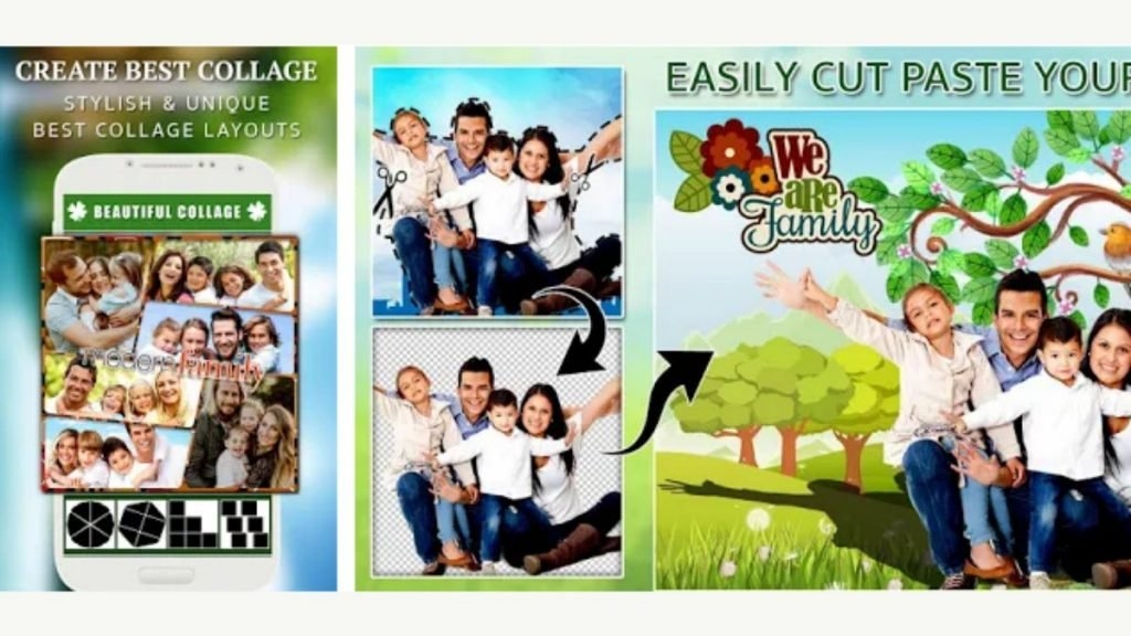 Family Photo Frames - Collage Editor