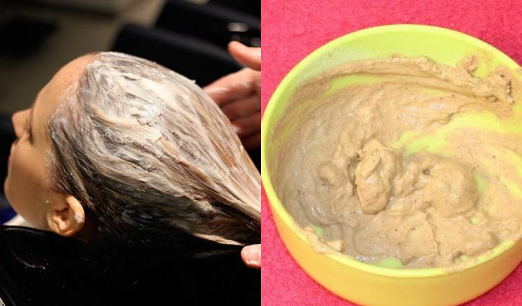 wash hair with multani mitti