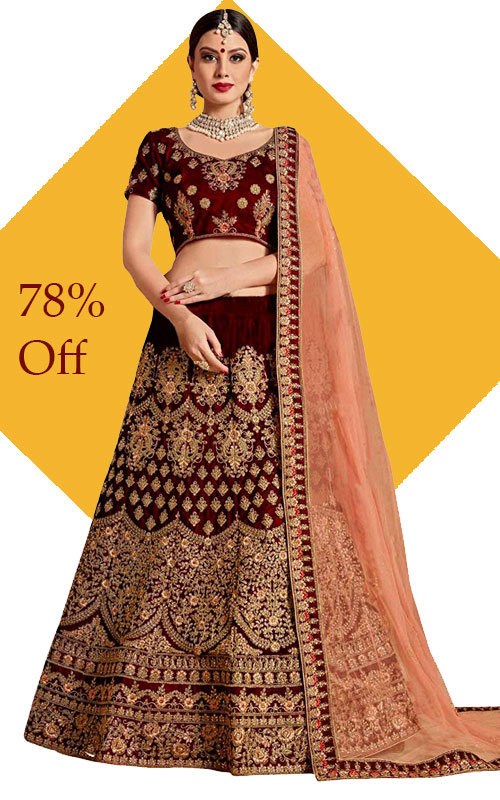 Embroidered Pure Silk Lehenga choli