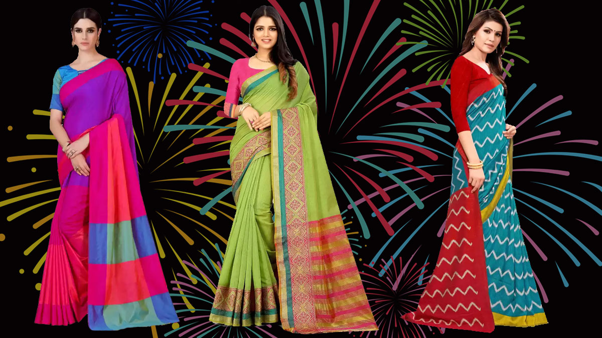 Colourful diwali special sarees