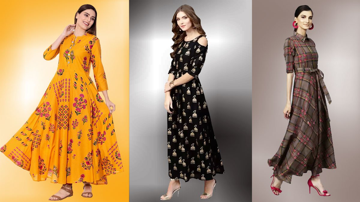 Long Kurtis from Amazon & Flipkart Sales