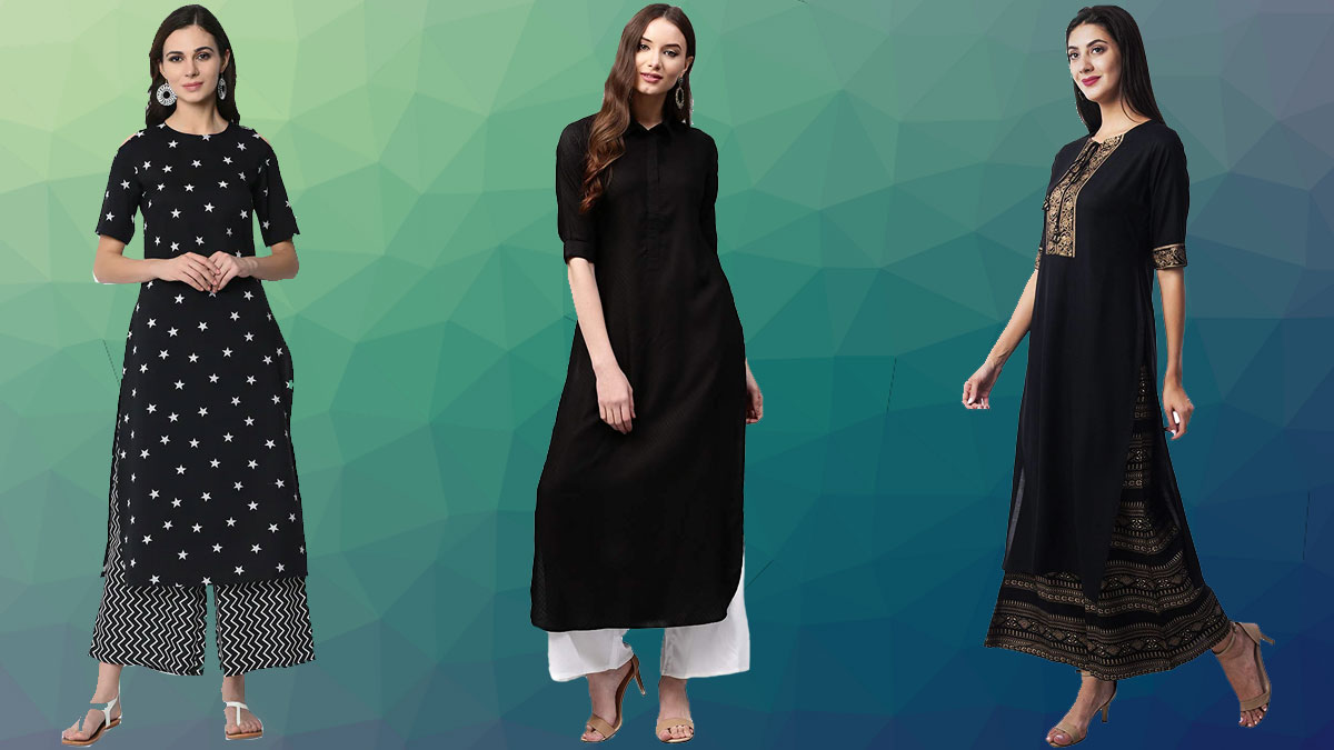 black Long Kurtis