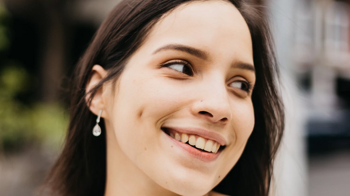 Girl with Dimple Cheeks