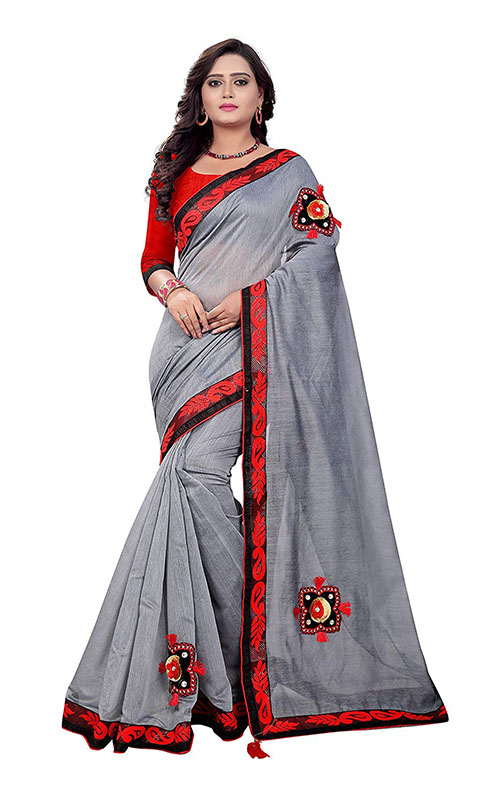 Chanderi Cotton Patch Work Saree