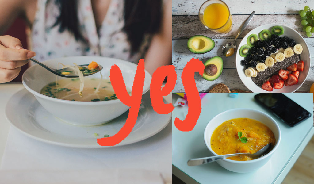 say yes to soup daal juice